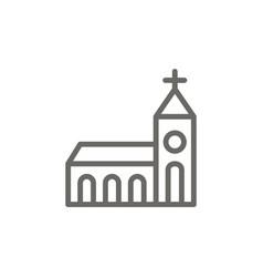 church symbol icon spiritual concept vector image
