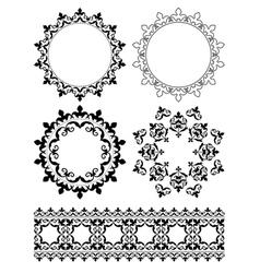 Decorative design elements - ornaments vector