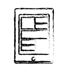 digital tablet pc delivery order service vector image