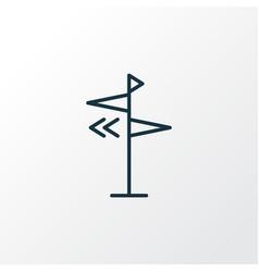 direction icon line symbol premium quality vector image