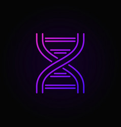 dna colorful outline icon or logo element vector image