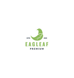 Eagle with wings as leaf logo design vector