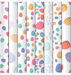 easter seamless pattern colored eggs with 8 vector image