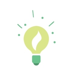 Ecological light bulb icon vector image