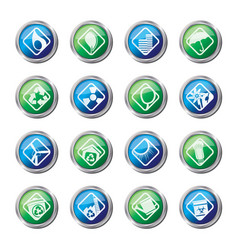ecology icons - set for web applications vector image