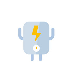 Electric system icon on white flat vector