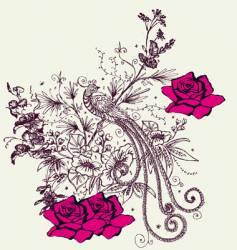 fashion floral design vector image