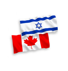 Flags canada and israel on a white background vector