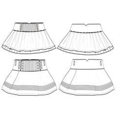 Girls skirt vector