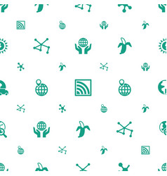 Global icons pattern seamless white background vector
