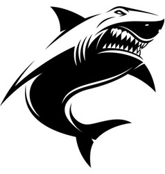 Great white ferocious shark vector