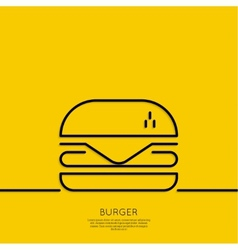 Hamburger icon on a yellow background vector