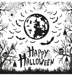 Happy Halloween sign and icons for Halloween vector