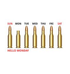 hello monday slogan humorous text days the vector image