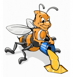 Honey bee vector
