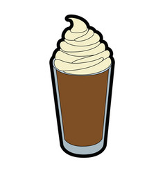 Isolated milk shake vector