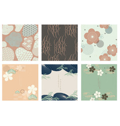 japanese template geometric background vector image
