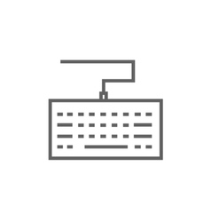 Keyboard line icon vector image