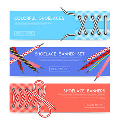 Lace shoes banners vector