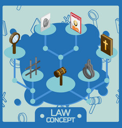 law color isometric concept icons vector image