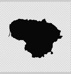 Map lithuania isolated black vector