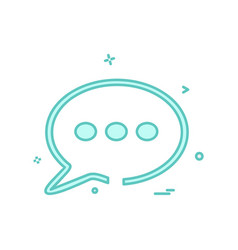 message icon design vector image