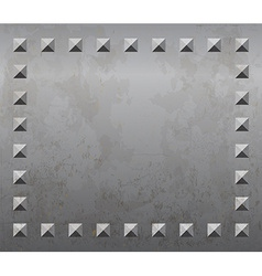 Metal background with rivets vector image