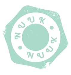 Nuuk stamp rubber grunge vector