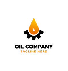 oil and gas logo design inspiration vector image