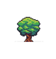 Pixel art tree vector