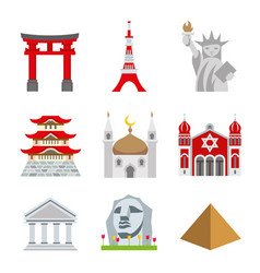 place landmark travel world architecture vector image vector image