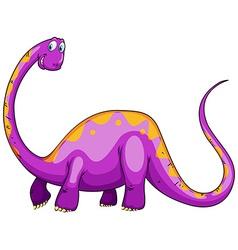 Purple dinosaur with long neck vector