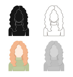 Redhead icon cartoon single avatarpeaople icon vector