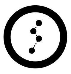 route black icon in circle vector image