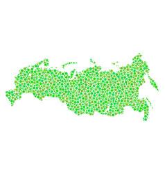 russia map collage of dots vector image