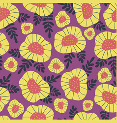 scandinavian style vintage floral background vector image