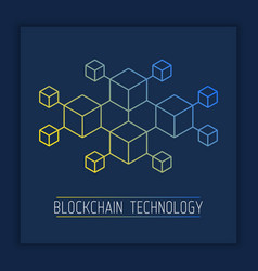 simple layout with blockchain future technology vector image
