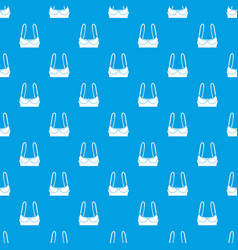 sports bra pattern seamless blue vector image