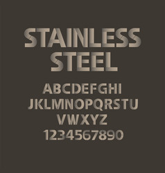 stainless steel alphabet mat metal abc vector image