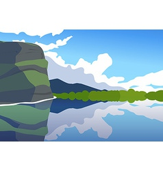 Sunny day on Irish coastline vector