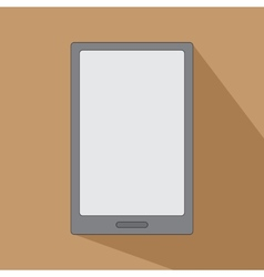 Tablet eReader for books smartphone icon flat vector image