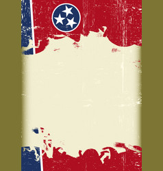 tennesse flag grunge background vector image