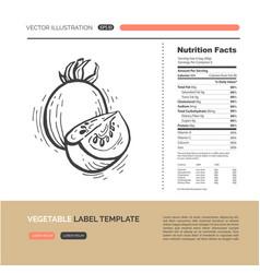 Vegetables label concept vector