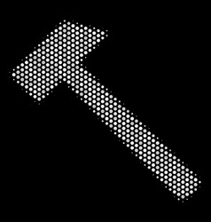 White dotted hammer icon vector