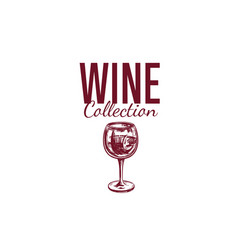 wine shop label cover 3 vector image