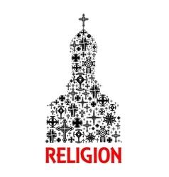 Church icon Religion cross christianity symbols vector image vector image