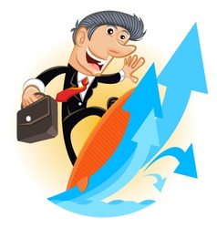 Climbing Up Corporate Ladder vector image vector image