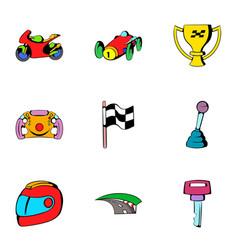 Finish icons set cartoon style vector