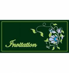invitation floral frame vector image vector image
