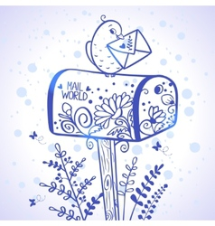 Mail world vector image